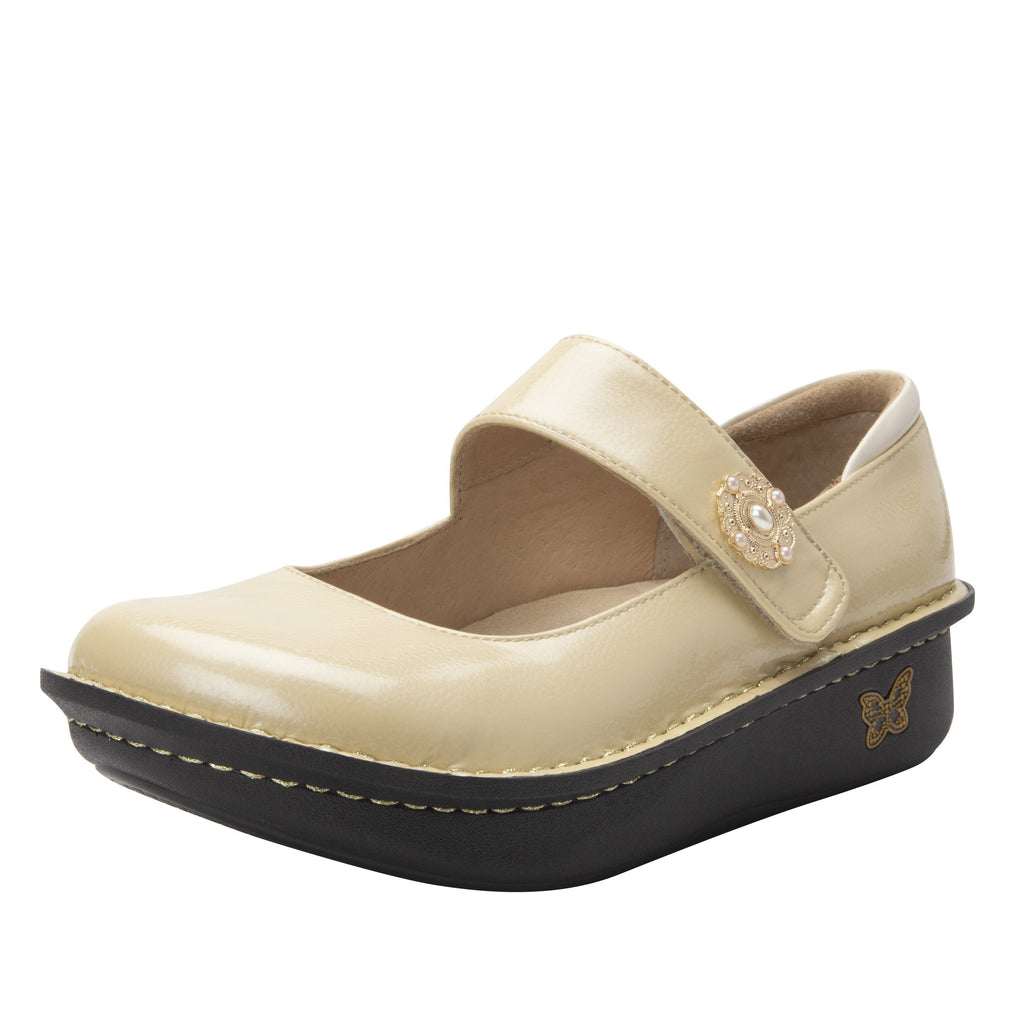 Paloma Brooch Mary Janes with Classic Rocker Outsole - PAL-7705_S1