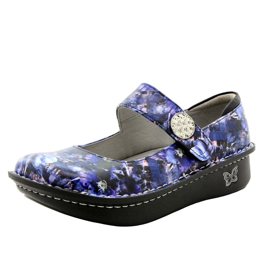Paloma Periwinkle Mary Janes with Mild Rocker Bottom - PAL-774_S1