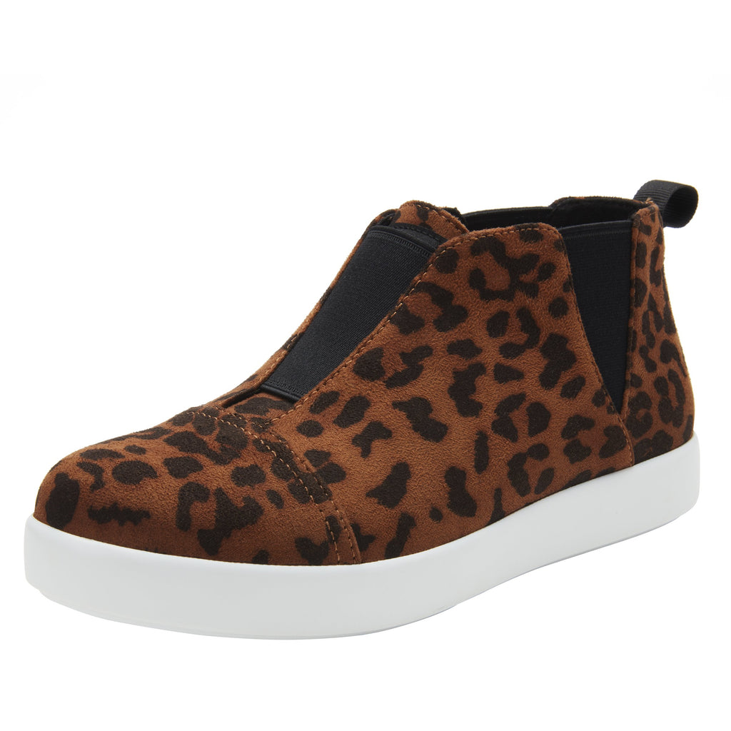 Parker Leopard slip-on bootie on the Comfort Athleisure outsole, a fashionable choice for your outfit of the day.  PAR-7903_S1