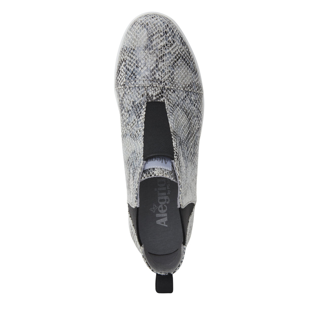 Parker Grey Snake slip-on bootie on the Comfort Athleisure outsole, a fashionable choice for your outfit of the day.  PAR-7915_S4