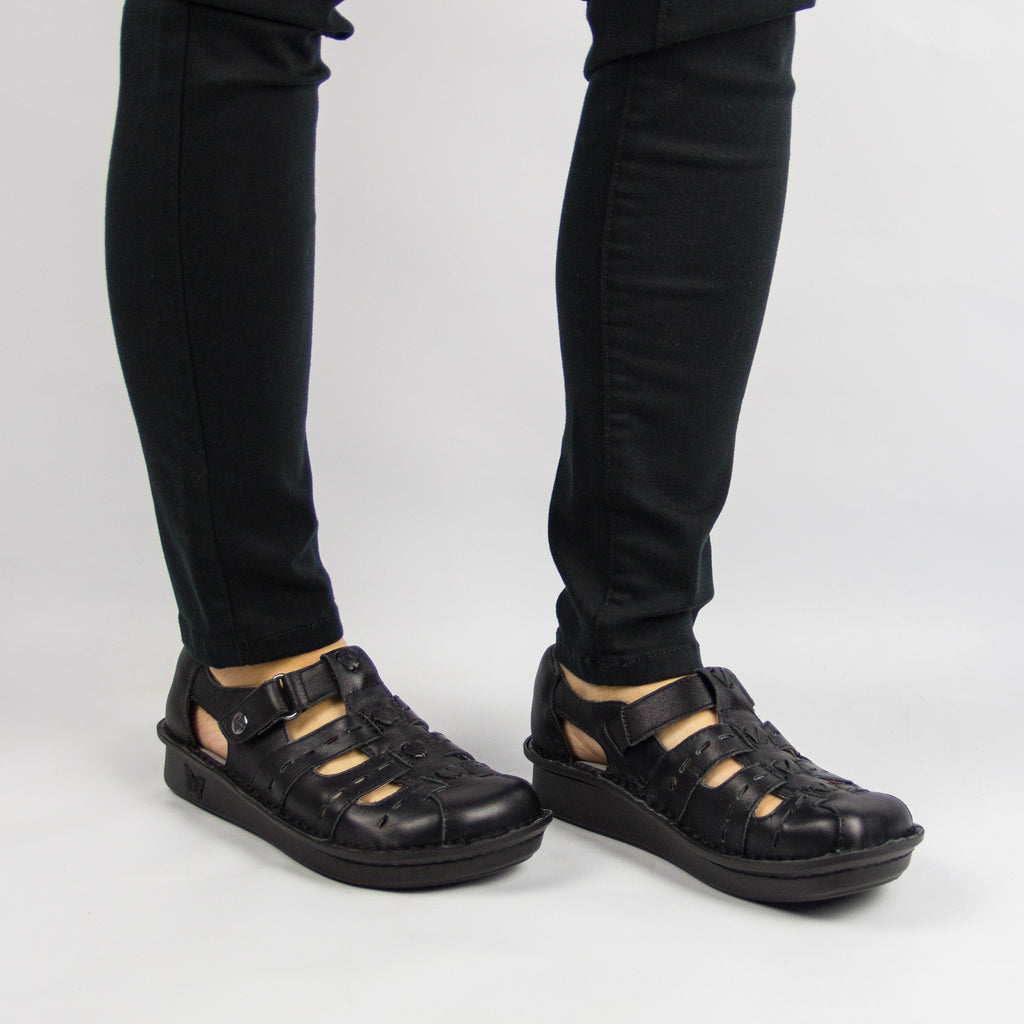 Pesca Black Butter Sandal - Alegria Shoes - 2 (8688662925)