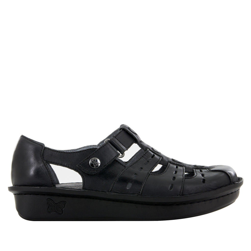 Pesca Black Butter Sandal - Alegria Shoes - 3 (8688662925)