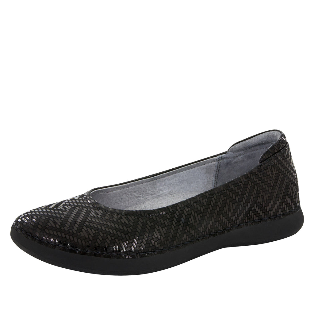 Petal Black Dazzler Flat - Alegria Shoes - 1