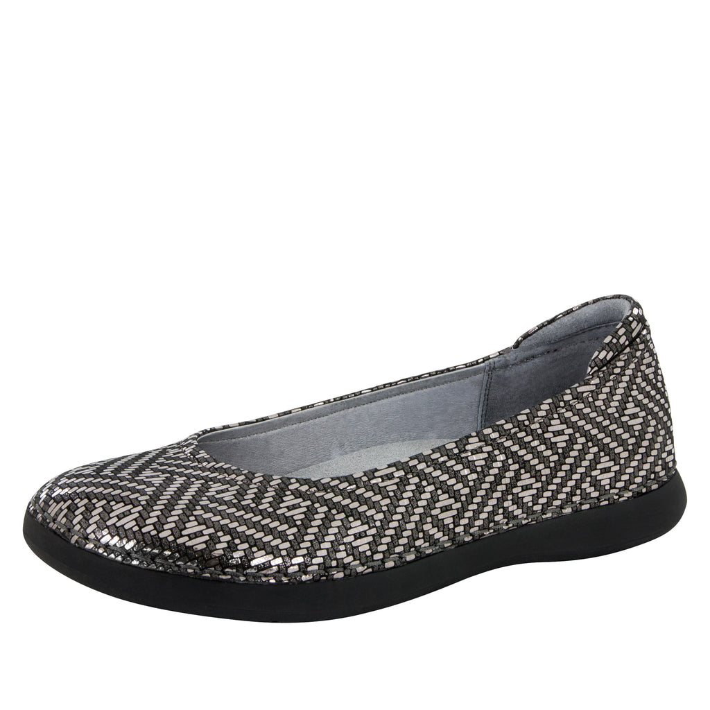 Petal Pewter Dazzler Flat - Alegria Shoes - 1