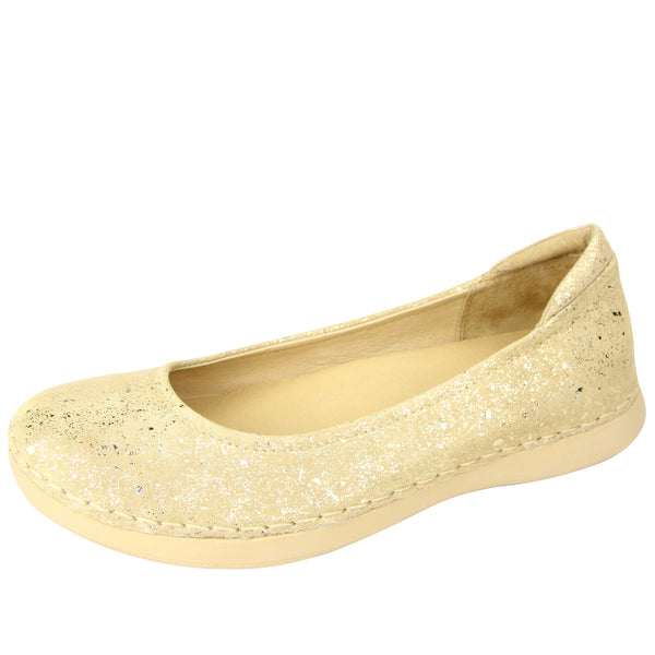 Petal Gold Flake Flat - Alegria Shoes - 1