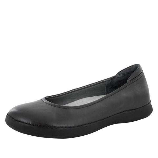 Petal Black Nappa Flat - Alegria Shoes - 1