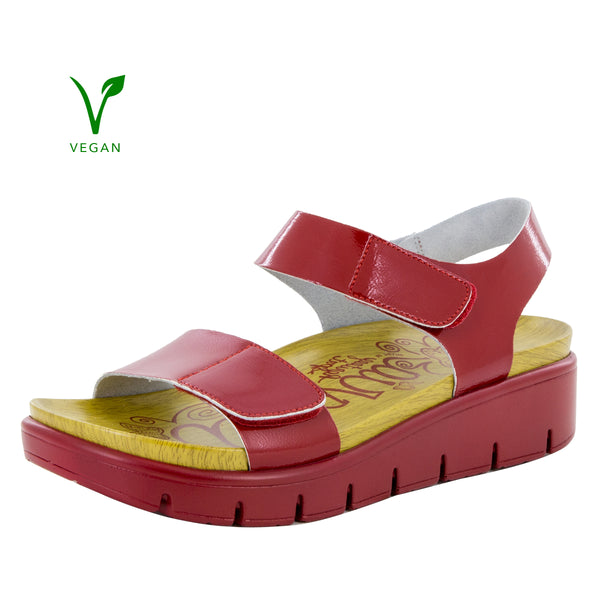 Playa Duo Red Patent Sandal