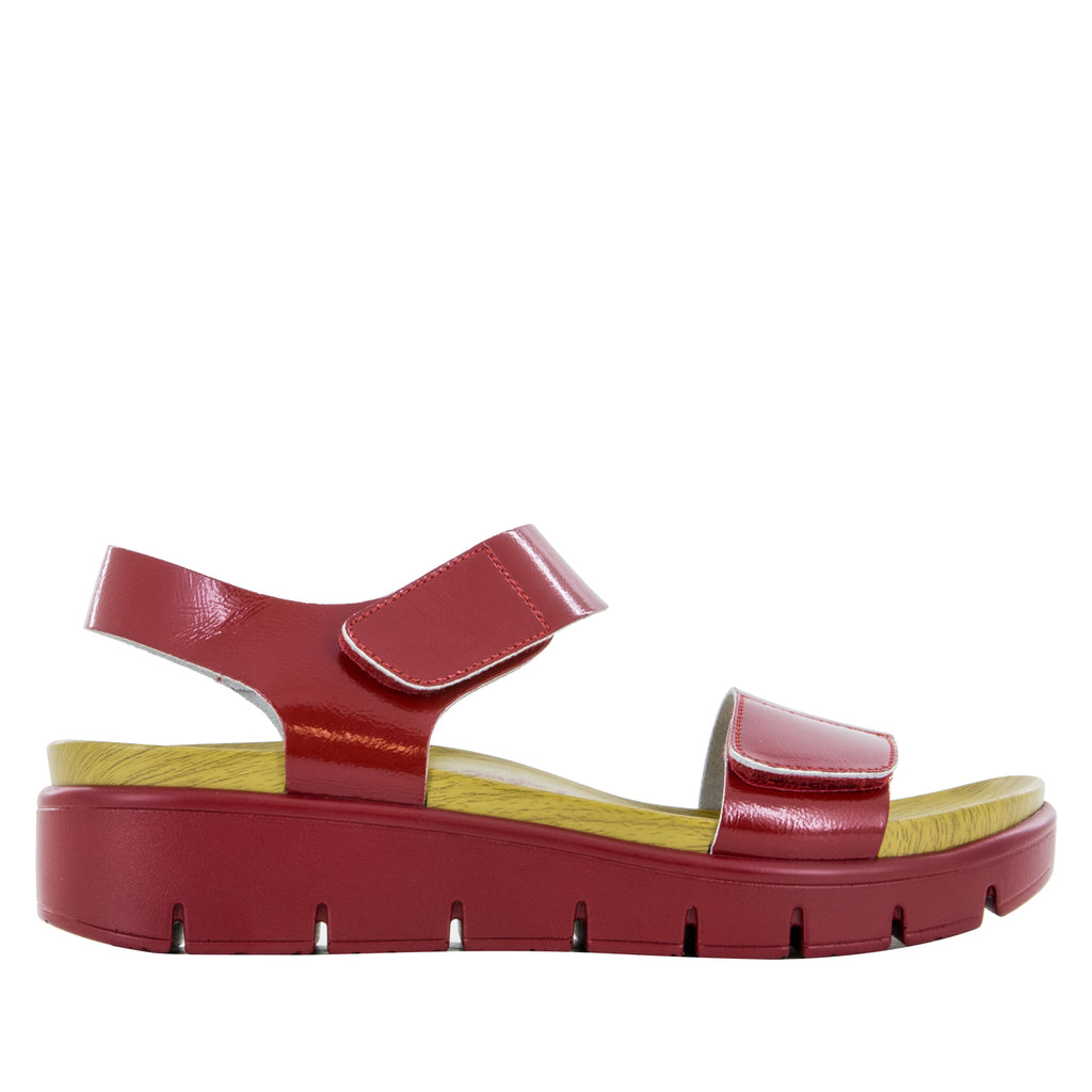 Playa Duo Red Patent Sandal (502752837686)