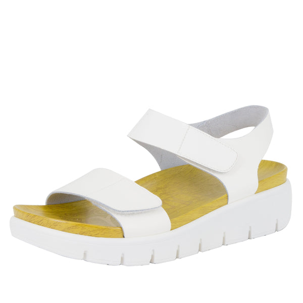 Playa Duo White Patent Sandal
