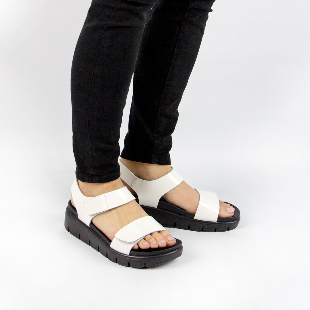 Playa White Patent Sandal (9235441677)