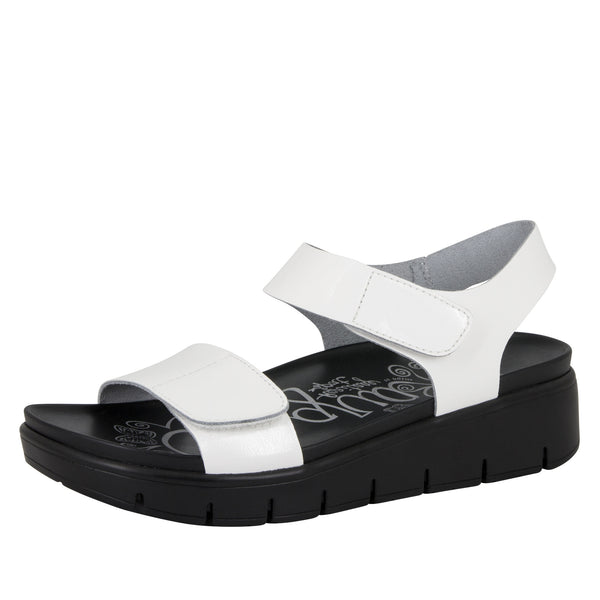Playa White Patent Sandal