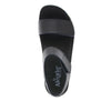 Playa Oasis Black two strap adjustable sandal with contoured footbed and printed heritage sport outsole - PLA-174_S4