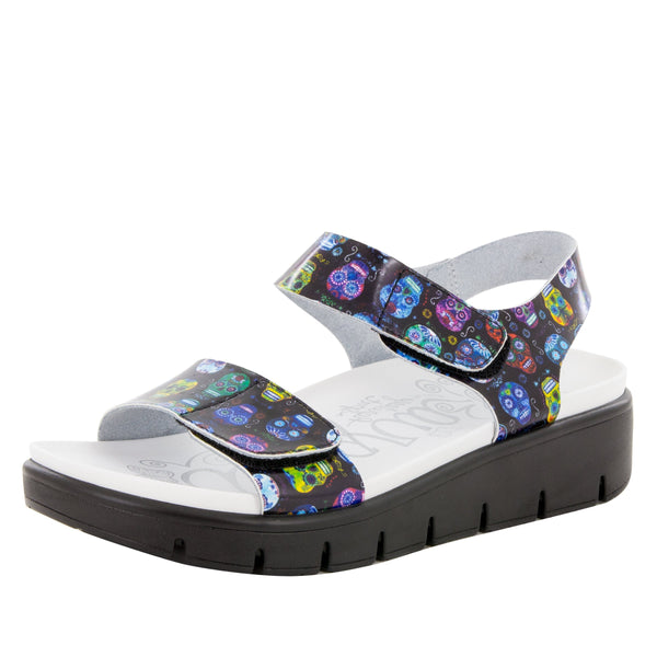 Playa Sugar Skulls Sandal