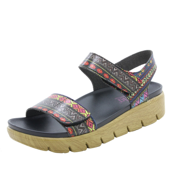 Playa Pow Wow two strap adjustable sandal with contoured footbed and printed heritage sport outsole - PLA-592_S1
