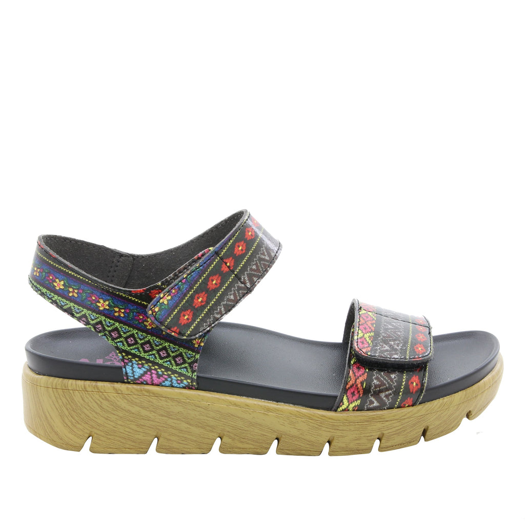 Playa Pow Wow two strap adjustable sandal with contoured footbed and printed heritage sport outsole - PLA-592_S2
