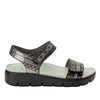 Playa Pow Wow Pewter two strap adjustable sandal with contoured footbed and heritage sport outsole - PLA-593_S2