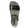 Playa Pow Wow Pewter two strap adjustable sandal with contoured footbed and heritage sport outsole - PLA-593_S5
