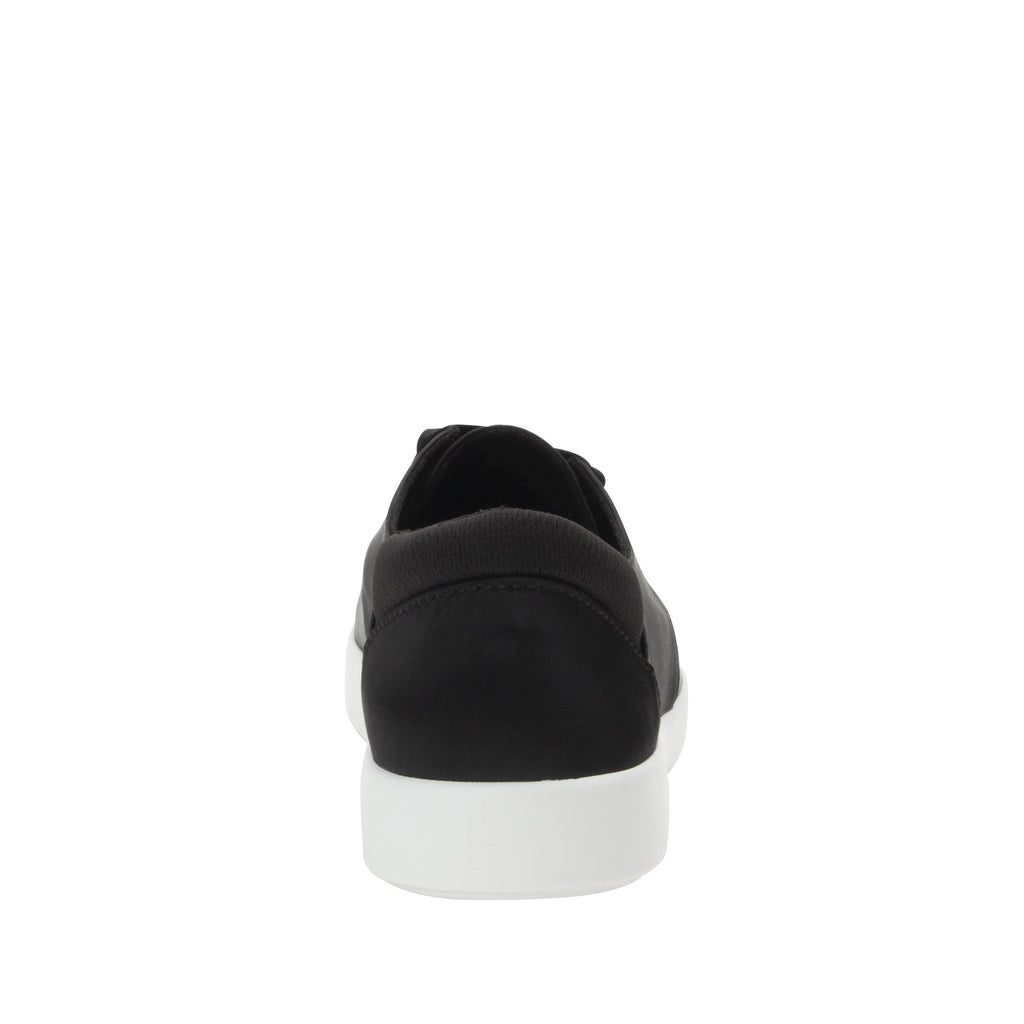 Poly Black Satin casual shoe on Comfort Athleisure outsole, with stain-guarded vegan textile upper for added flair.  POL-7900_S3