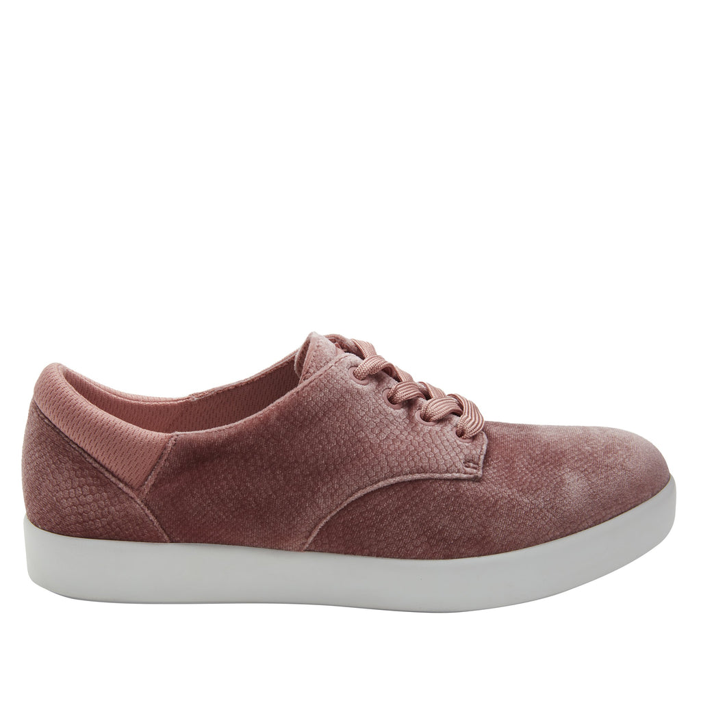 Poly Blush Velvet Snake casual shoe on Comfort Athleisure outsole, with stain-guarded vegan textile upper for added flair.  POL-7905_S2