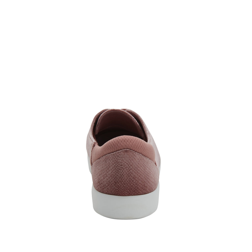 Poly Blush Velvet Snake casual shoe on Comfort Athleisure outsole, with stain-guarded vegan textile upper for added flair.  POL-7905_S3
