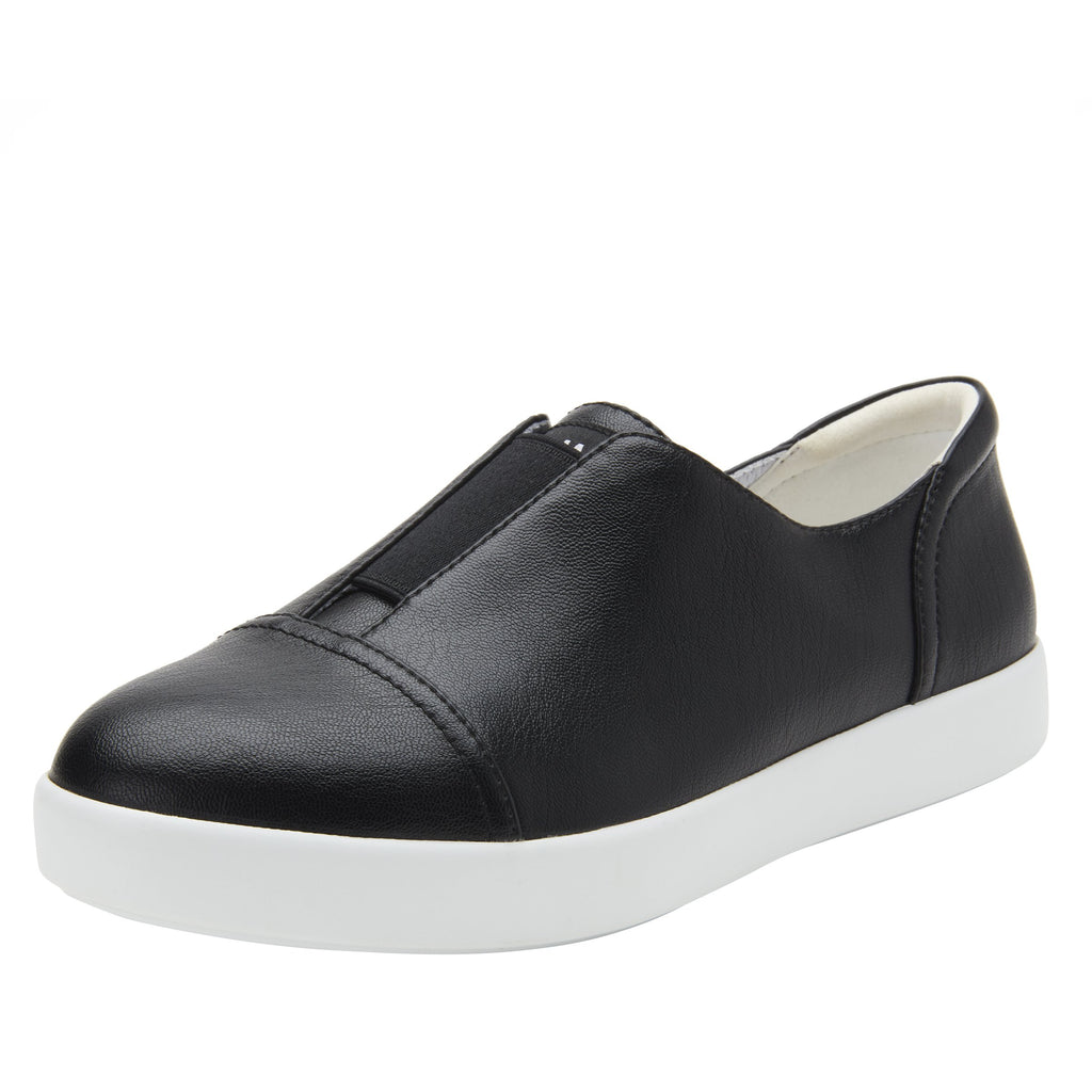 Posy Black Napa slip-on shoe  on the Comfort Athleisure outsole, a fashionable choice for your outfit of the day.  POS-601_S1