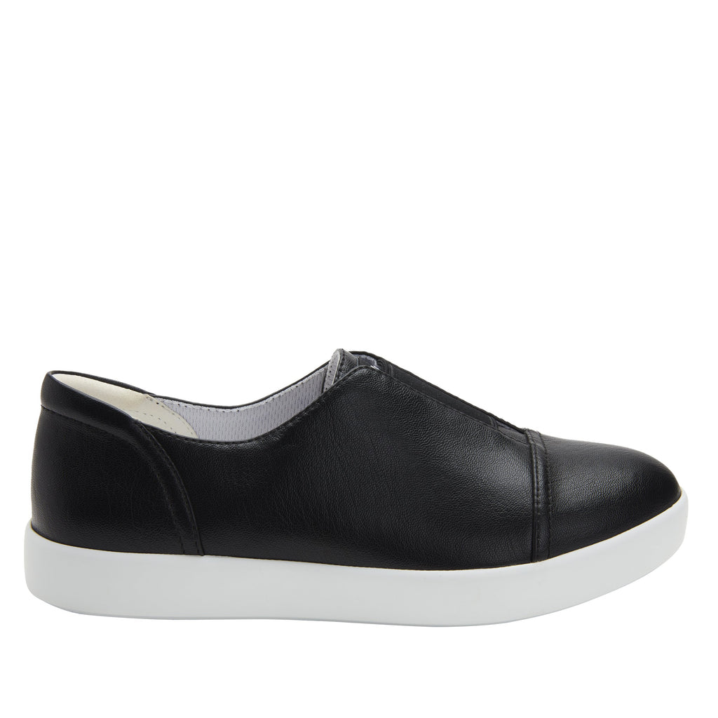Posy Black Napa slip-on shoe  on the Comfort Athleisure outsole, a fashionable choice for your outfit of the day.  POS-601_S2