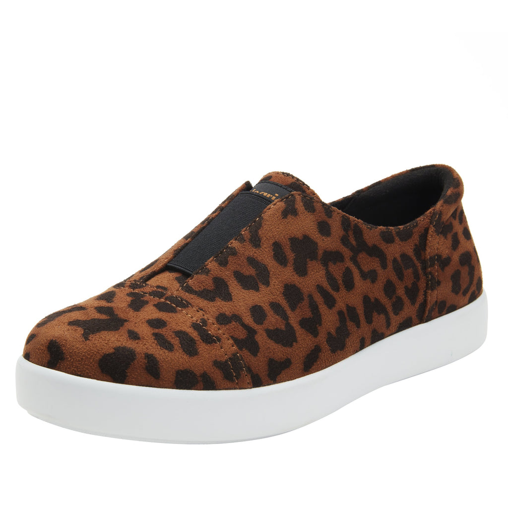 Posy Leopard slip-on shoe  on the Comfort Athleisure outsole, a fashionable choice for your outfit of the day.  POS-7903_S1