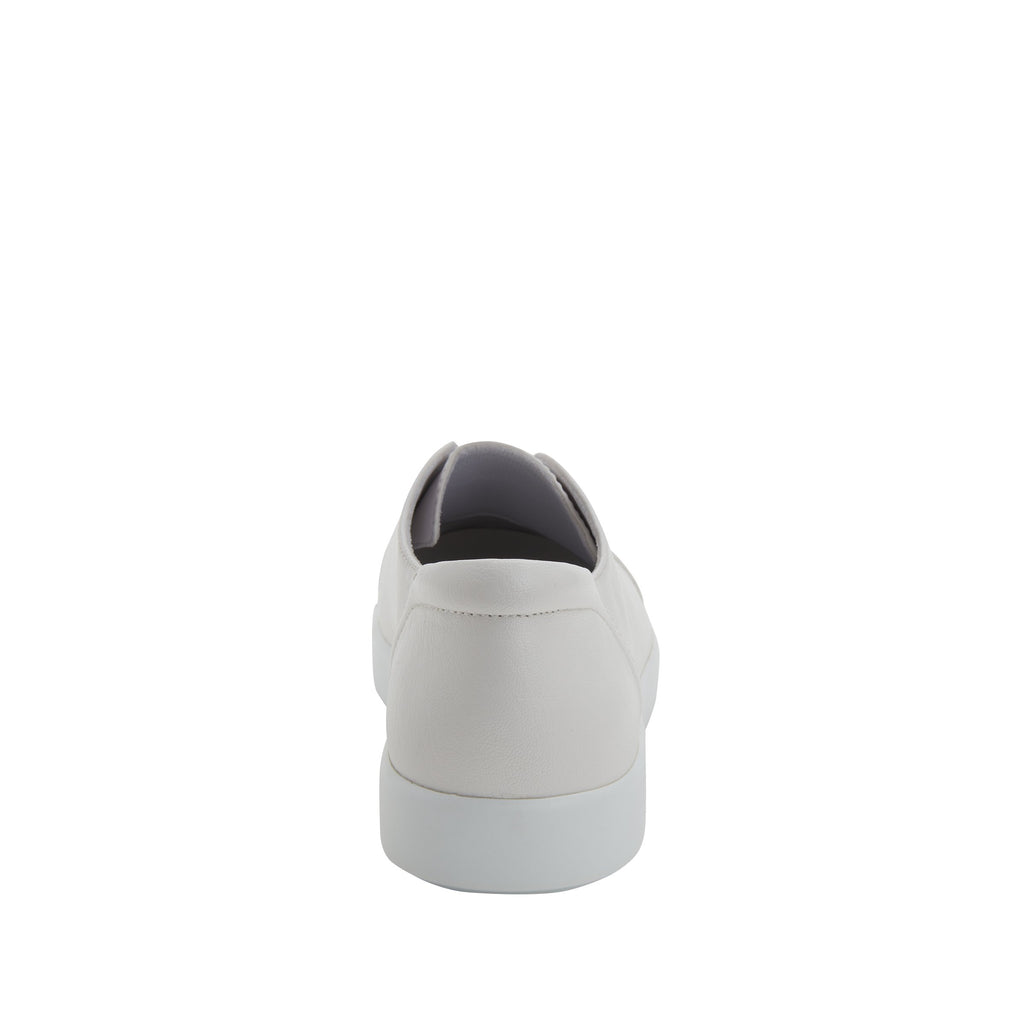 Posy White Nappa slip-on shoe  on the Comfort Athleisure outsole, a fashionable choice for your outfit of the day.  POS-7907_S3