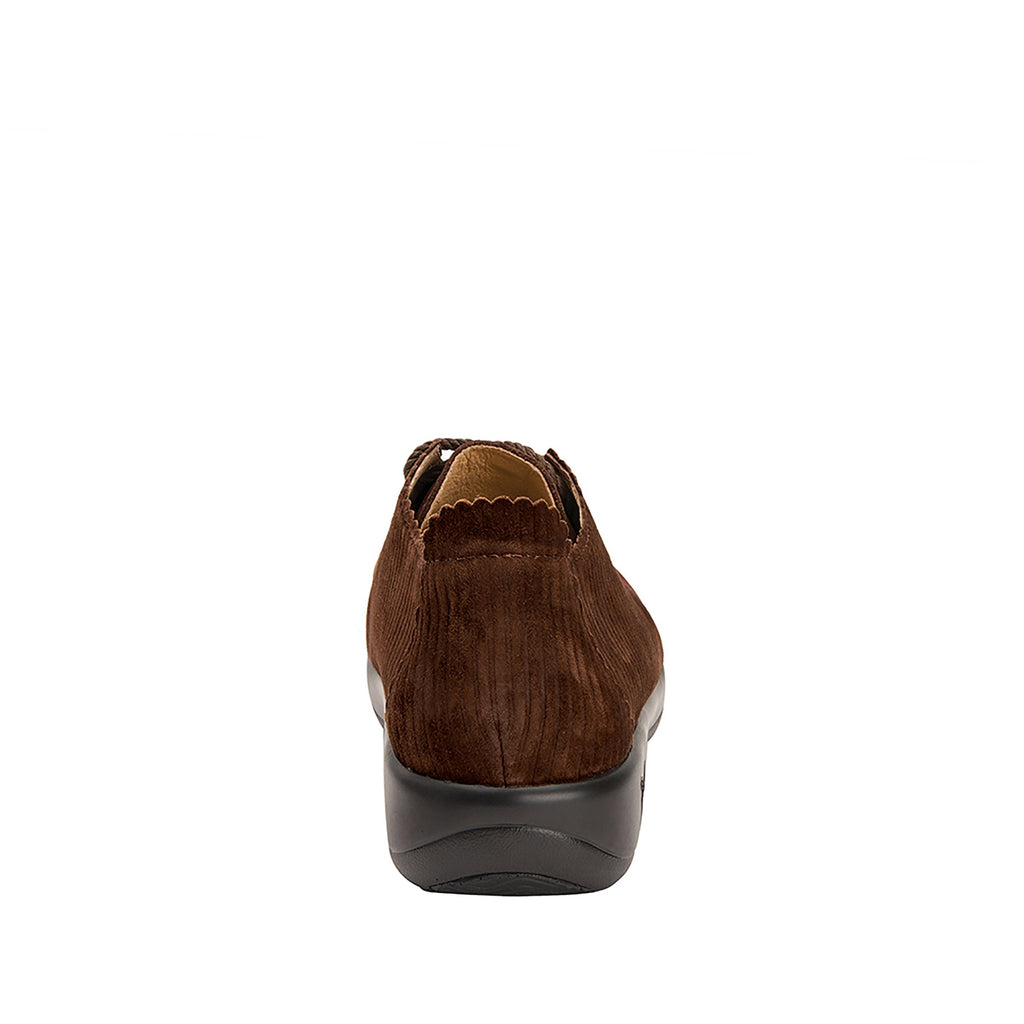Pyper Capt Corduroy Brown lace up style shoe with embossed corduroy detailing - PYP-196_S3