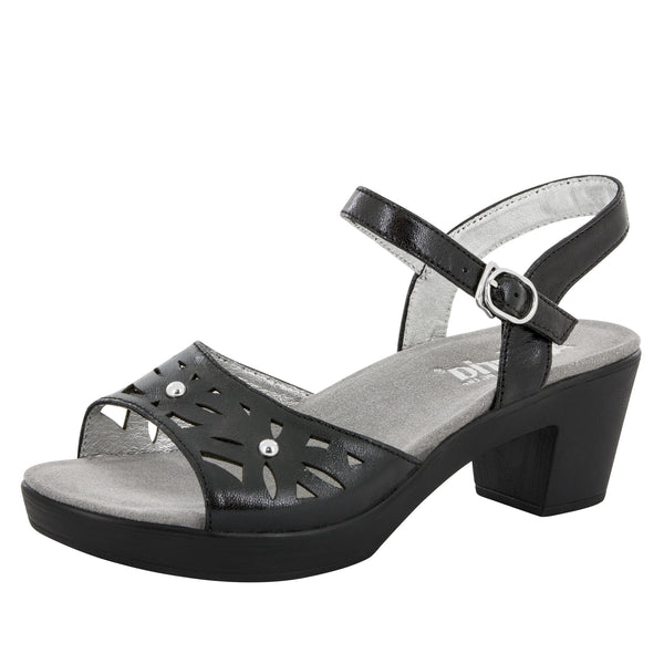 Reese Uptown Black Sandal - Alegria Shoes - 1