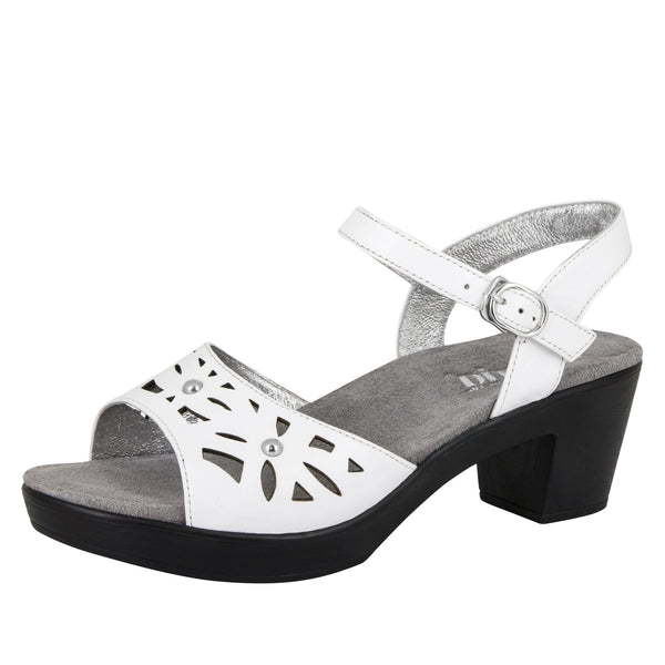 Reese White Butter Sandal - Alegria Shoes - 1