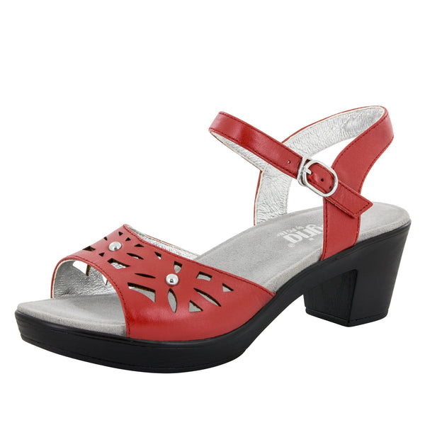 Reese Red Butter Sandal - Alegria Shoes - 1