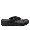 Riz Black thong sandal with vegan braided upper - RIZ-101_S2