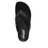 Riz Black thong sandal with vegan braided upper - RIZ-101_S4