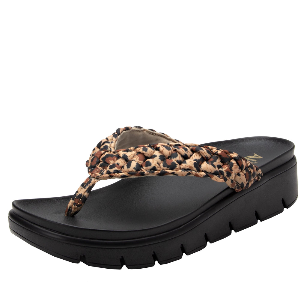 Riz Wild thong sandal with vegan braided upper - RIZ-402_S1