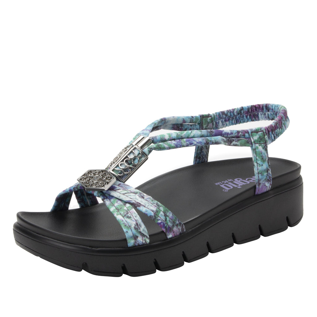 Roz Itchycoo Purple t-strap sandal with vegan uppers and decorative hardware - ROZ-7767_S1