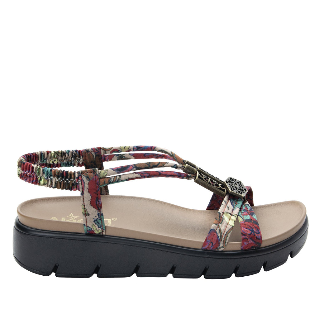 Roz Get Away Tan t-strap sandal with vegan uppers and decorative hardware - ROZ-952_S2