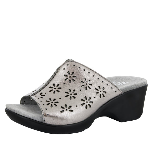 Sasha Uptown Pewter Sandal - Alegria Shoes - 1