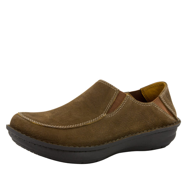 Alegria Men's Schuster Choco Nubuck Shoe - Alegria Shoes