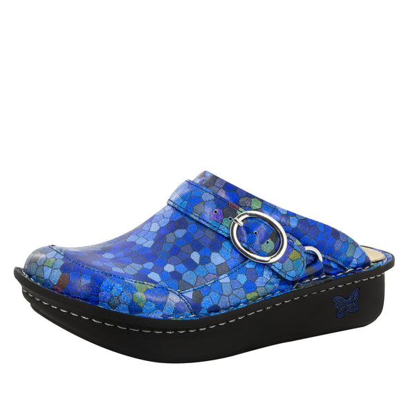 Seville Honeycomb Blues Clog - Alegria Shoes - 1