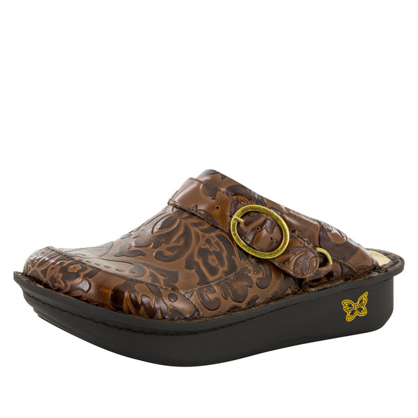 Seville Yeehaw Brown Clog - Alegria Shoes