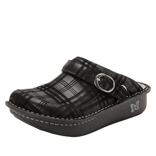 Seville Plaid To Meet You Professional Clog on Classic Rocker outsole - SEV-597_S1