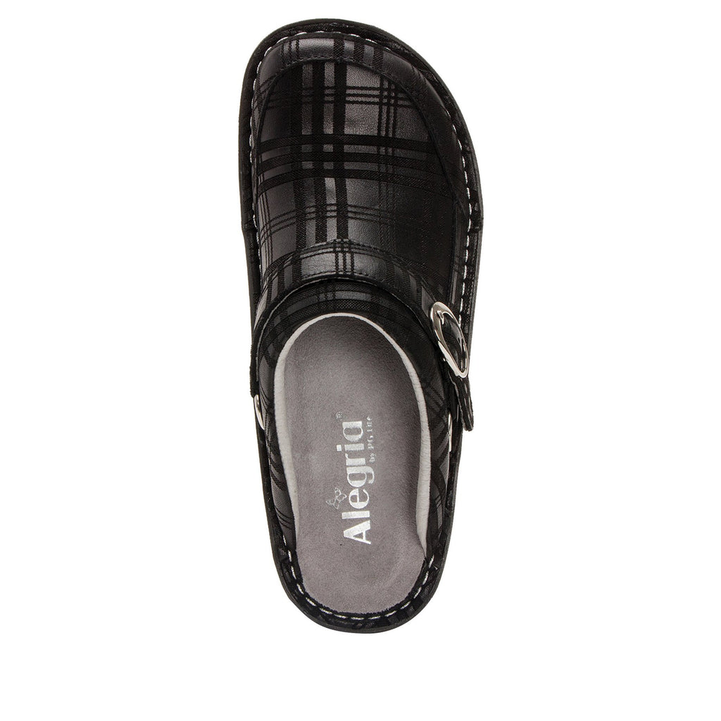 Seville Plaid To Meet You Professional Clog on Classic Rocker outsole - SEV-597_S4