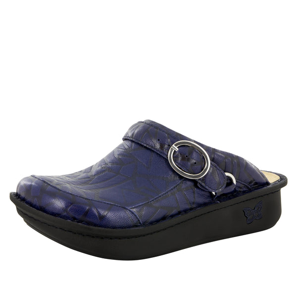 Seville Tetrus Blue Clog - Alegria Shoes - 1