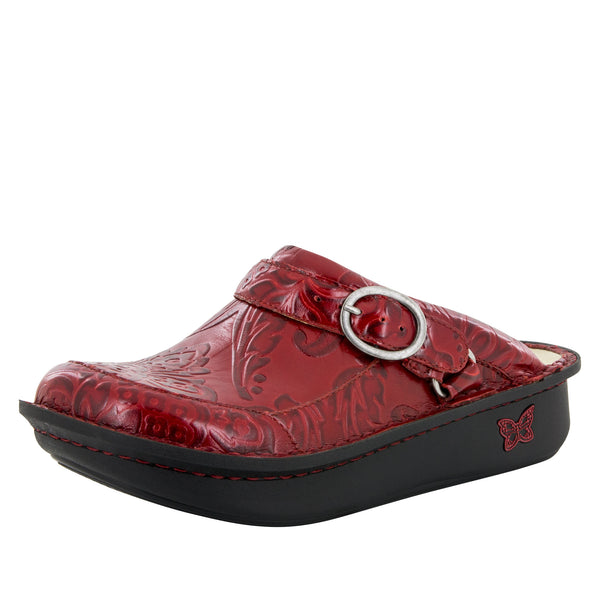 Seville Yeehaw Red Clog - Alegria Shoes - 1