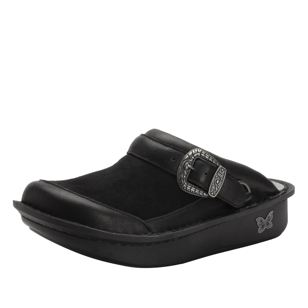 Seville Black Flex Professional Clog with Dream Fit technology on Classic Rocker outsole - SEV-7712_S1