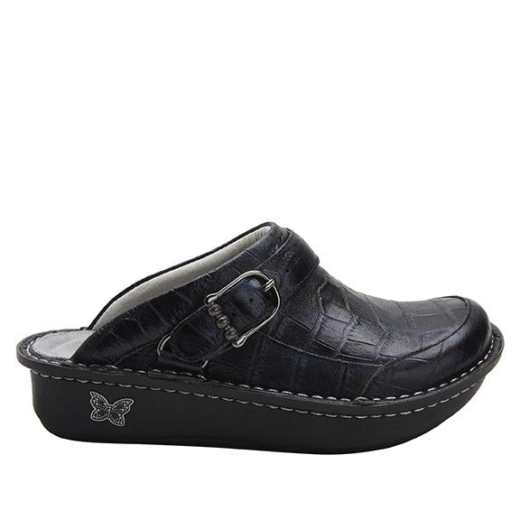Seville Croco Noche Clog with versatile swivel strap on Classic Rocker - SEV-7815_S2