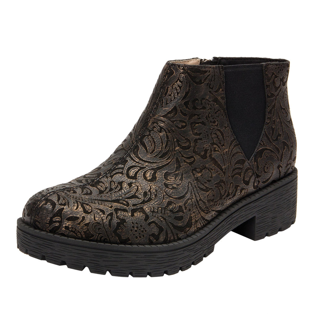 Shayne Bronze Swish boot with rugged lug inspired outsole- SHA-184_S1