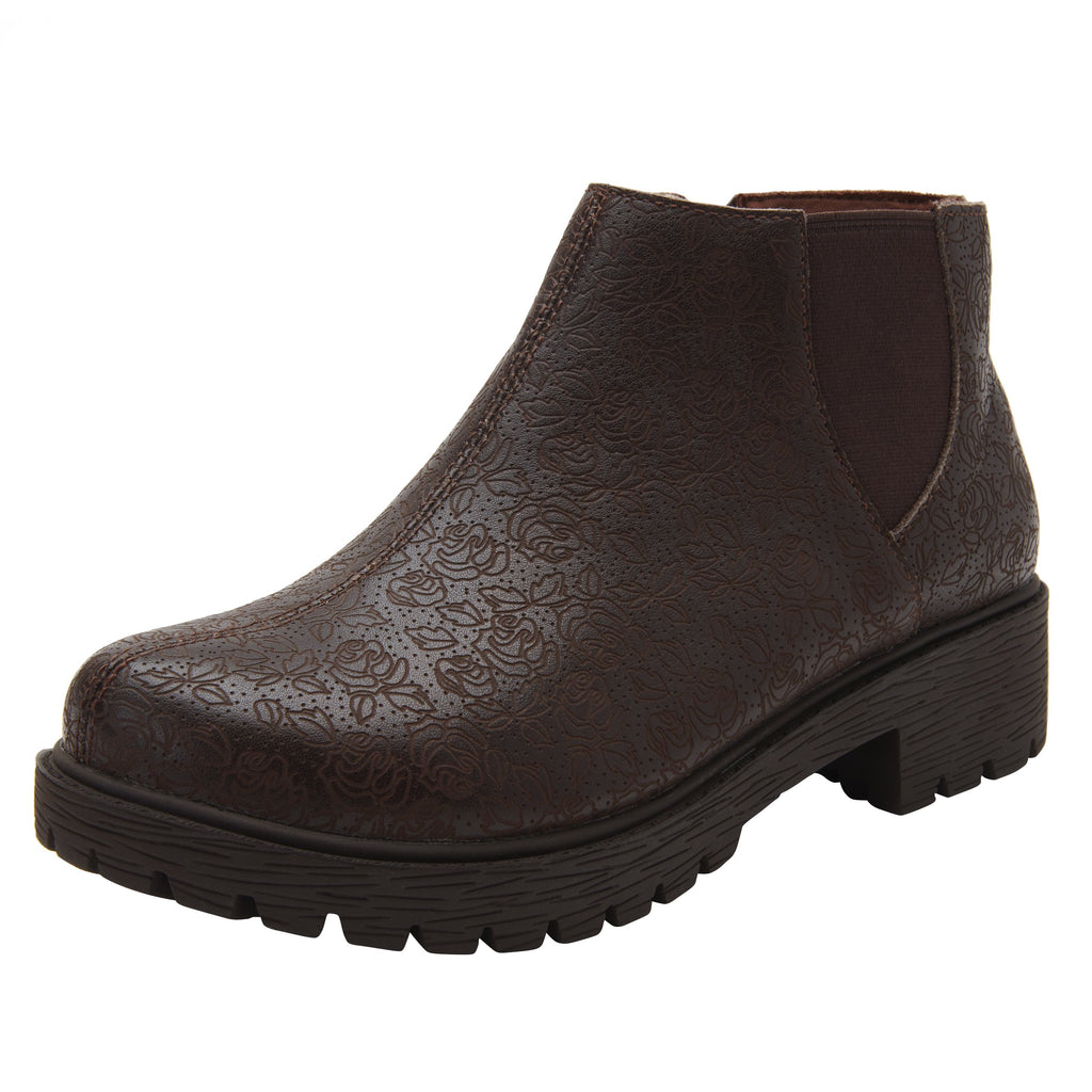 Shayne Cocoa Impressions boot with rugged lug inspired outsole- SHA-7824_S1