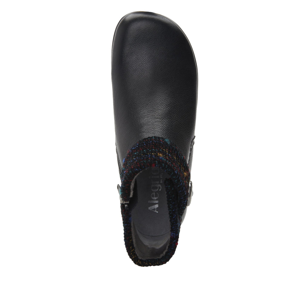 Sitka Black Bootie on Career Casual with contrast knited collar and warm linings for cooler weather. SIT-7857_S4